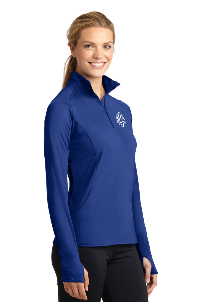 Ladies Monogrammed Performance Pullover in Nine Color Options