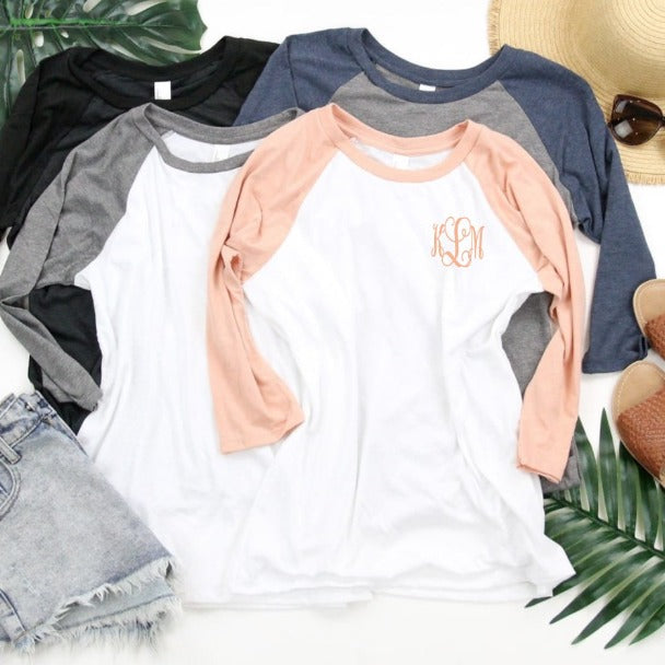 Embellish Everyday Baseball Tee | Monogrammed