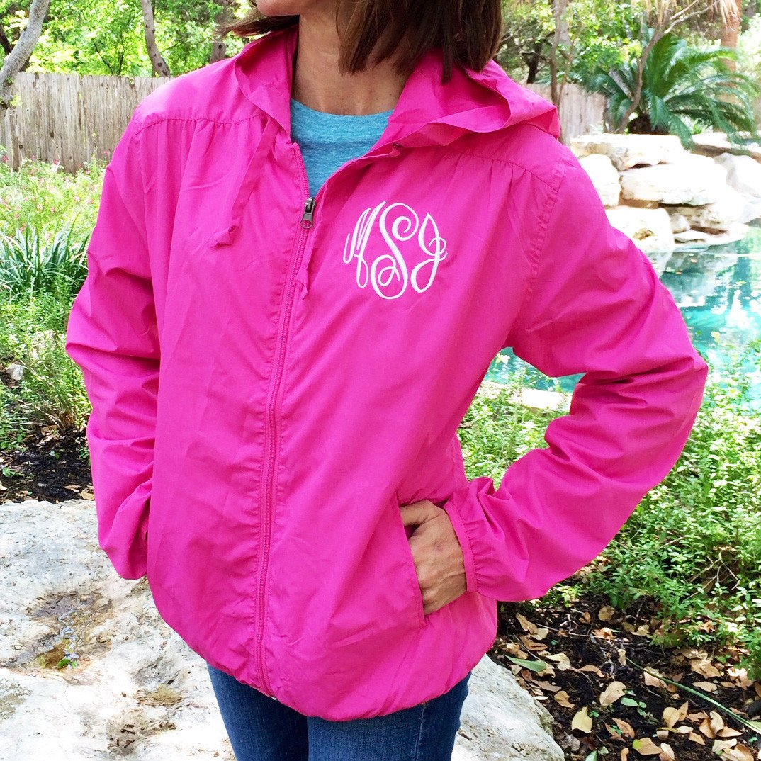 Monogrammed Rain Jacket | Embellish Accessories and Gifts