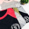 Embellish Everyday Vintage Tri-Blend Raglan Top | Monogrammed