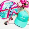 Embellish Travel Accessory Carrying Case | Monogrammed | Aqua Swirl