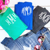 Embellish Classic Short Sleeve Cotton T-Shirt All Sizes | Monogrammed | QUICK SHIP | FREE SHIPPING