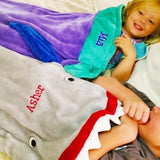 Embellish Kids Mermaid & Shark Tail Blankets | Personalized