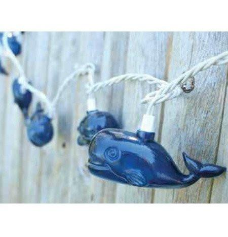 Preppy Whale Party String Lights