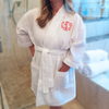 Monogrammed Bathrobe, White