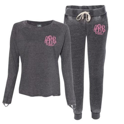 Embellish Ladies Zen Vintage Fleece Jogger Pants | Monogrammed
