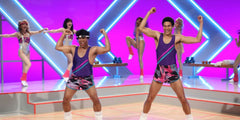 80s style aerobics workout with comedians Key and Peele