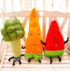 Happy Fruit and Vegetable pillow toys