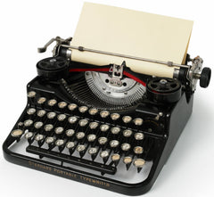 An image of a portable type writer
