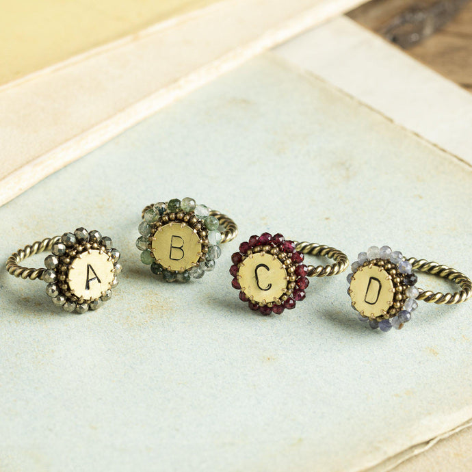 Lettera anello regolabile/adjustable ring-Tataborello-Tataborello