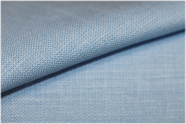 Milltown - Cool Blue - 100% linen fabric - irish linen - john hanna limited - bairdmcnutt