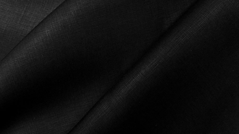 Glenariff - Black - 100% linen fabric - irish linen - john hanna limited - bairdmcnutt