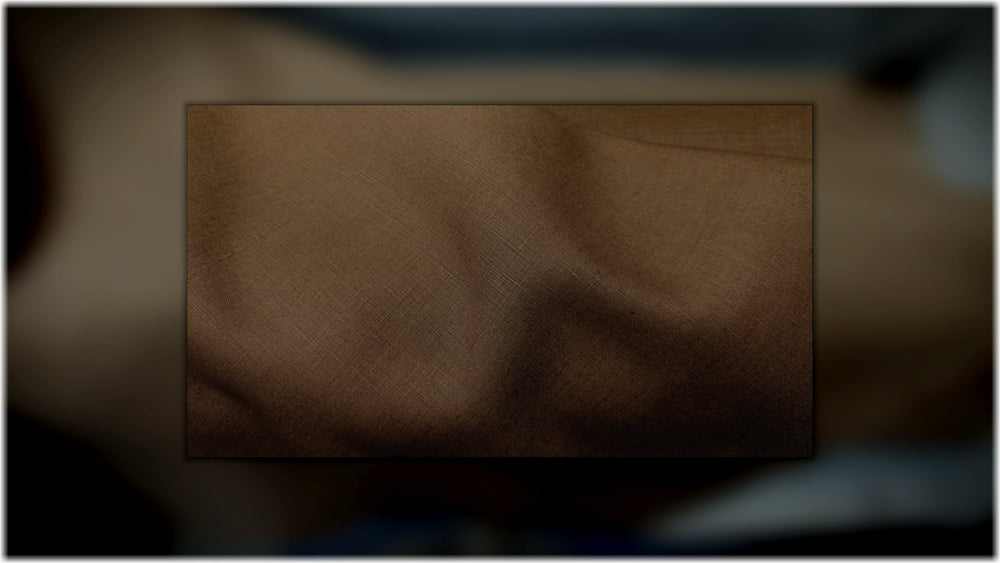 Glenariff - Dark Tan - 100% linen fabric - irish linen - john hanna limited - bairdmcnutt
