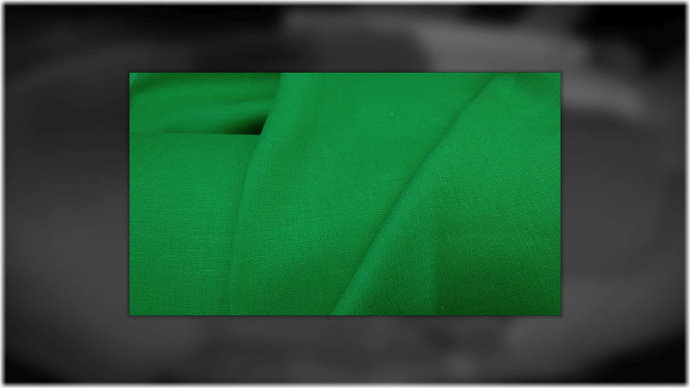Glenarm - Bright Green - 100% linen fabric - irish linen - john hanna limited - bairdmcnutt