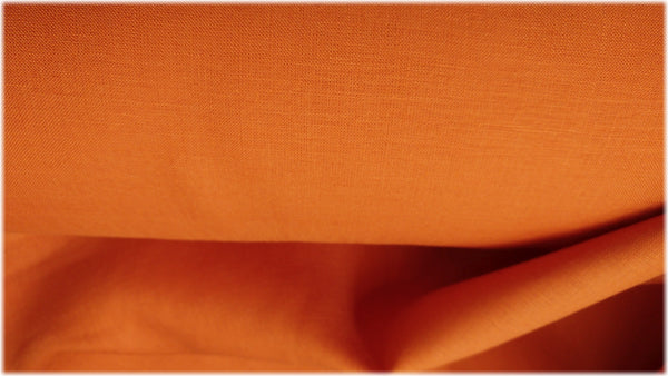 Glenarm - Celosia Orange - 100% linen fabric - irish linen - john hanna limited - bairdmcnutt