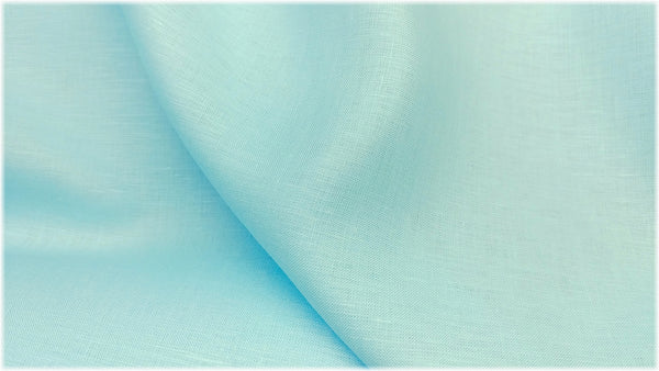 Glenarm - Tropical Blue - 100% linen fabric - irish linen - john hanna limited - bairdmcnutt