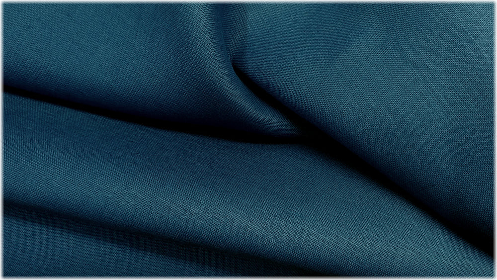 Milltown - Borage Blue - 100% linen fabric - irish linen - john hanna limited - bairdmcnutt