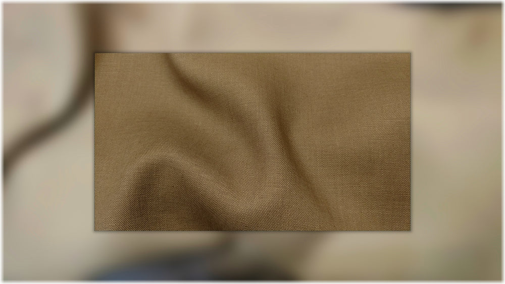 Milltown - Coffee - 100% linen fabric - irish linen - john hanna limited - bairdmcnutt