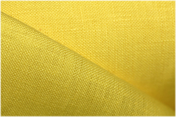 Milltown - New Yellow - 100% linen fabric - irish linen - john hanna limited - bairdmcnutt