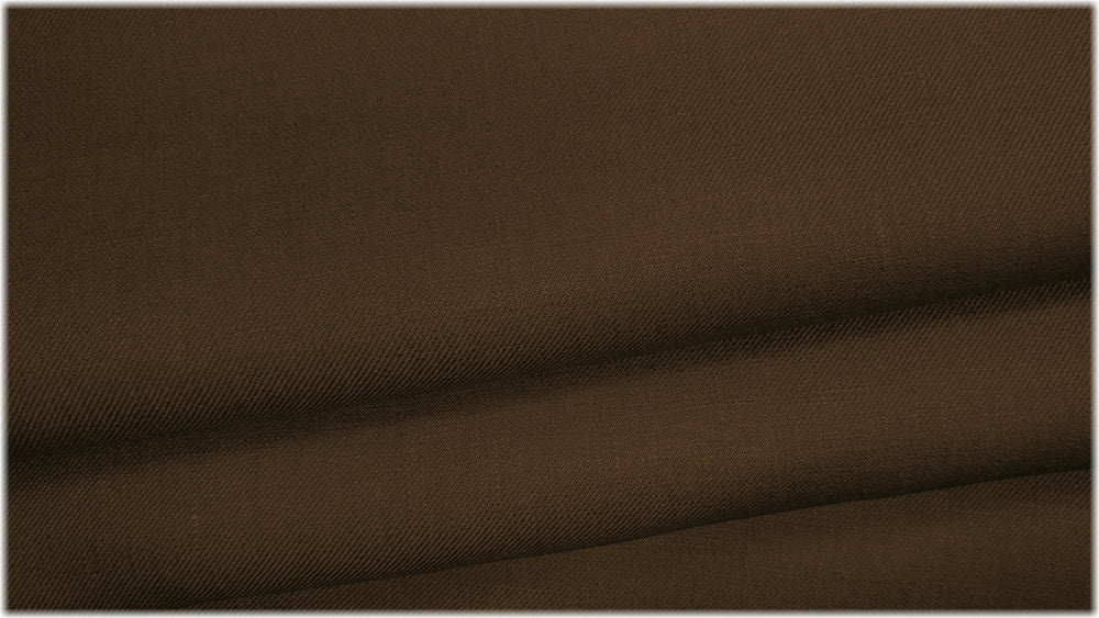 Parkgate Twill - Dark Tan - 100% linen fabric - irish linen - john hanna limited - bairdmcnutt