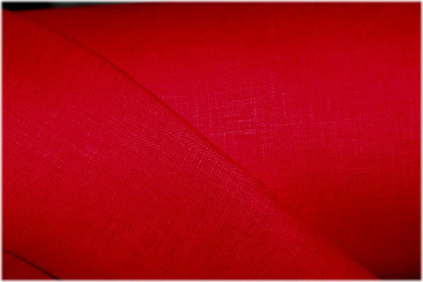 Milltown - Red - 100% linen fabric - irish linen - john hanna limited - bairdmcnutt