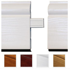 100mm White UPVC Skirting Inline Joint - Torus