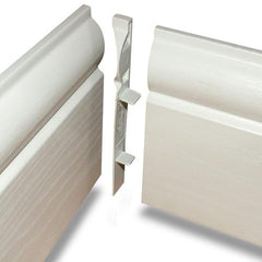 100mm White UPVC Skirting Internal Corner - Torus