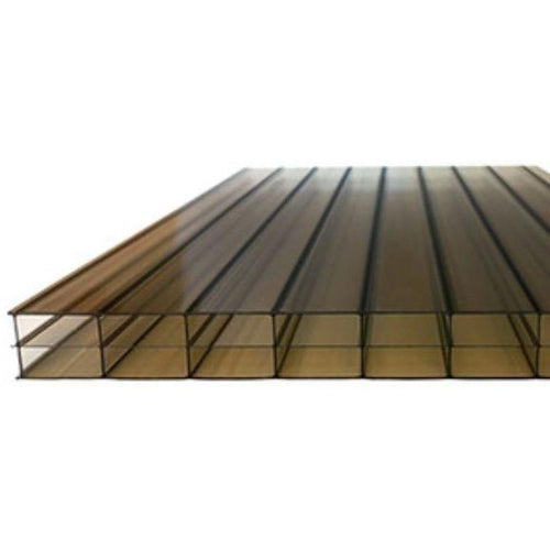 16mm Bronze Triple Wall Polycarbonate Roofing Sheets