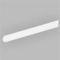 Long Bullnose White Window Sill End Caps