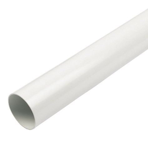 White Round Down Pipe 5.5mt Length  68mm