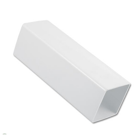 White Square Down Pipe 4.0mt Length  65mm
