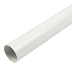 White Round Down Pipe 2.5mt Length  68mm