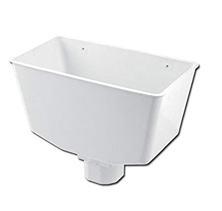 White Down Pipe Hopper Universal Square or Round