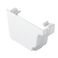 White Ogee Gutter Left Hand External Stop End