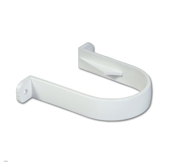 White Round Down Pipe Clips