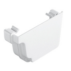 White Ogee Gutter Right Hand External Stop End