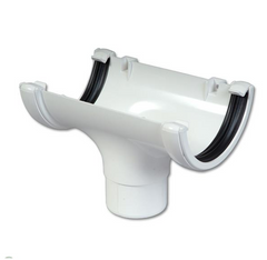 White Round Gutter Running Outlet