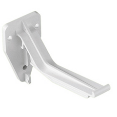 White Ogee Gutter Top Hung Fascia Bracket White