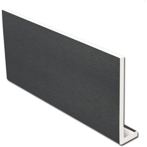 Anthracite Dark Grey Fascia Capping Board 9mm / 5m-Eurocell-PVC-CRD