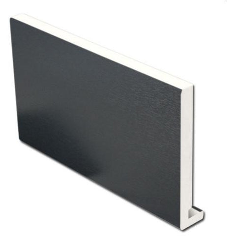 Anthracite Dark Grey Replacement Fascia Board 18mm / 5m-Eurocell-PVC-CRD