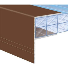 Glazing Bar Aluminium F Section End Profile