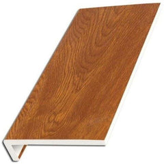 Light Oak UPVC Internal Window Sill Cover Square Edge