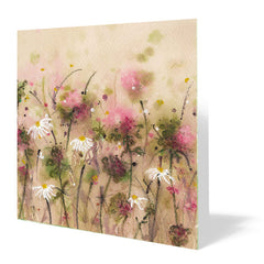 Dancing Daisy Card 14cm x 14cm (Pack of five)