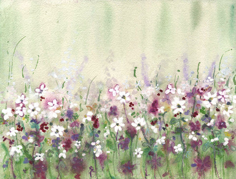 Daisies and Lavender Original Painting