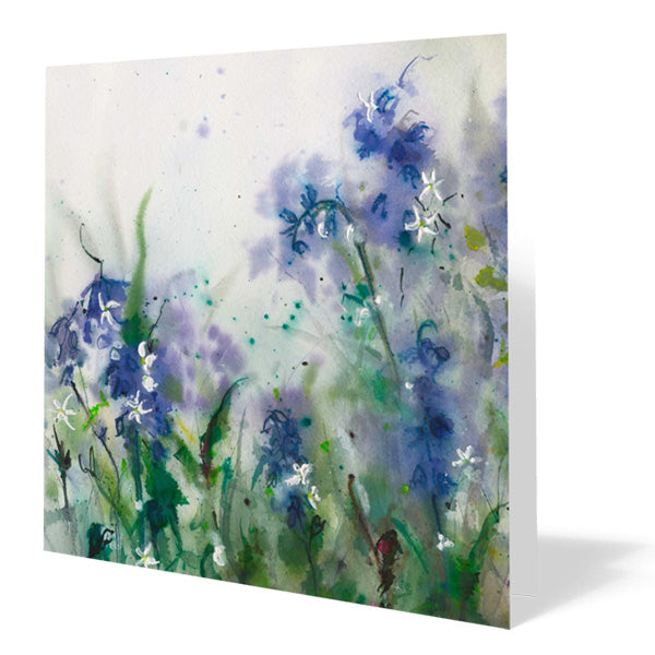 Bluebells Card 14cm x 14cm (Pack of five)