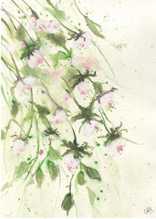 Gathering Rose Buds Original Painting
