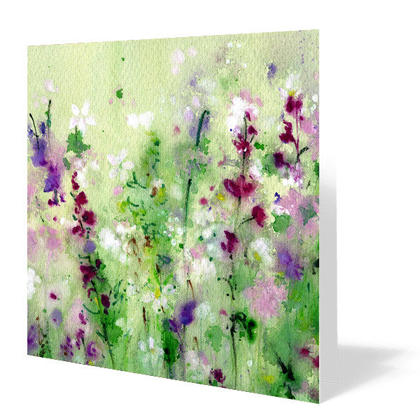 Midspring Meadow Card 14cm x 14cm (Pack of five)