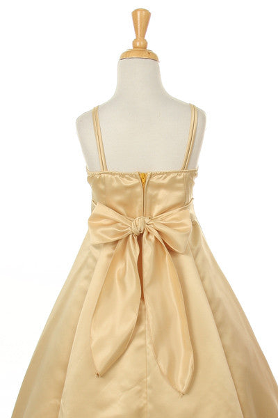 Lavinia Gold Junior Bridesmaid Dress with Beading