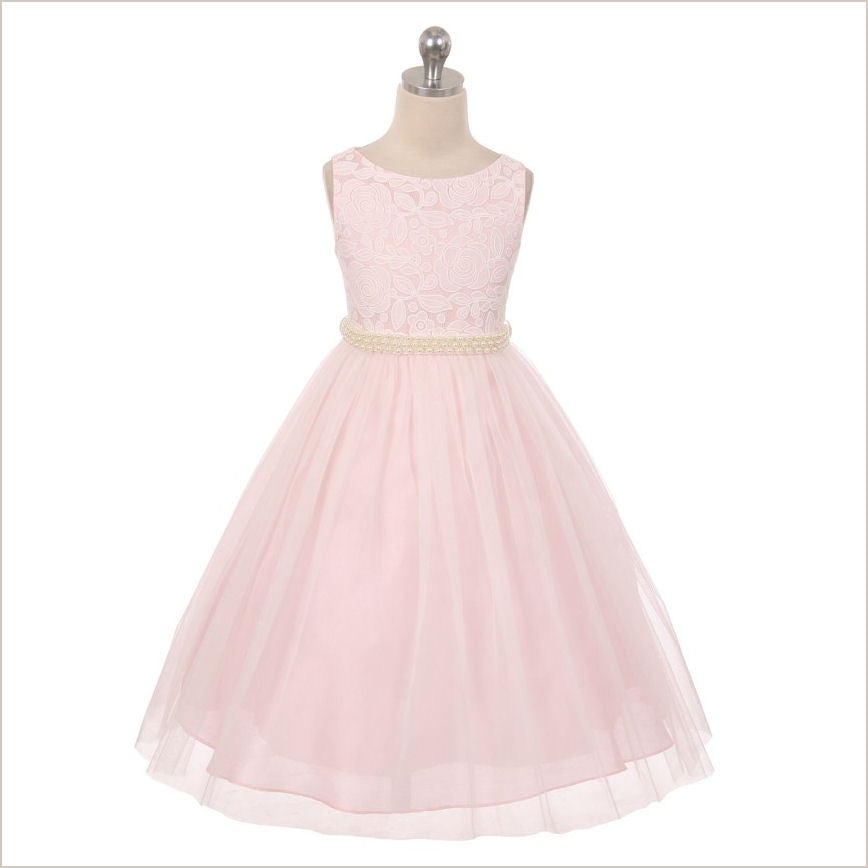 Lily Pink Lace Flower Girl Dress