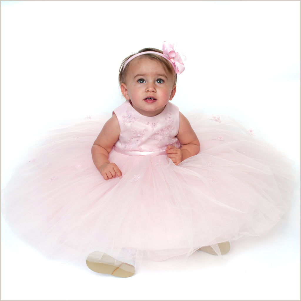 Mia Pink Flower Girl or Birthday Dress by Sarah Louise 70035